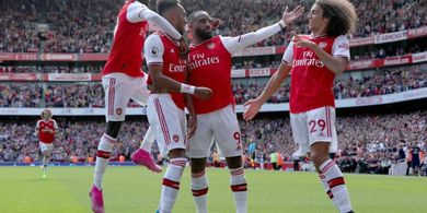 Hasil Arsenal Vs Burnley - Ceballos Dua Assist, Lacazette dan Aubameyang Berbagi Gol, The Gunners Tekuk Burnley