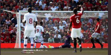 Hasil Babak I - Rashford Terpeleset, Manchester United Dijebol Crystal Palace
