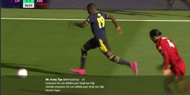 VIDEO - Detik-detik Pemain Rp 1,2 Triliun Arsenal Putus Rekor Van Dijk