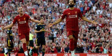 Hasil Liga Inggris - Salah Borong Dua Gol, Liverpool Sukses Pecundangi Arsenal