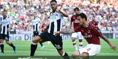 Hasil Liga Italia - Tanpa Tembakan Tepat Sasaran, Milan Takluk 0-1