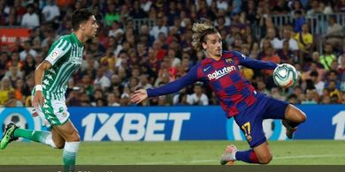 Barcelona Vs Betis - Griezmann Cetak Gol, Barca Imbang di Babak I