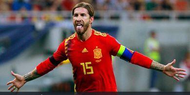 Sergio Ramos Dedikasikan Kelolosan Timnas Spanyol bagi Mantan Pelatih