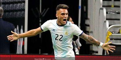Tanpa Messi, Argentina Hajar Meksiko dengan Hat-trick Lautaro Martinez