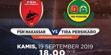 Link Live Streaming PSM Makassar Vs Tira Persikabo