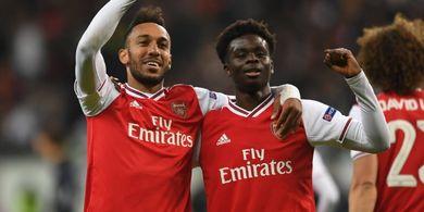 Hasil Liga Europa - Lawan 10 Pemain, Arsenal Menang Telak atas Frankfurt