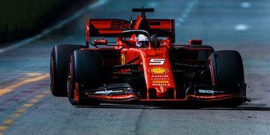 Hasil F1 Singapura 2019 - Lakukan Undercut, Vettel Ukir Kemenangan Perdana