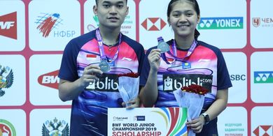 Kejuaraan Dunia Junior 2019 - Hanya Jadi Runner-Up, Leo/Indah Akui Tidak Tampil Optimal