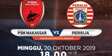 Link Live Streaming PSM Makassar Vs Persija Jakarta, Laga Pekan Ke-23 Liga 1 2019