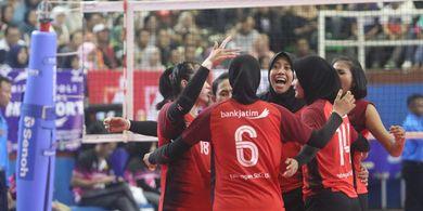Menangi Babak Final, Tim Putri Bank Jatim Cetak Hat-trick Juara Livoli