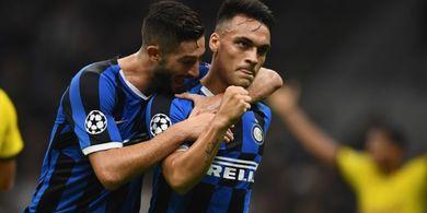 Lautaro Martinez Bawa Inter Milan Unggul 1-0 atas Dortmund di Babak I