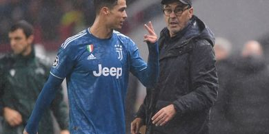Tumbang dari Lyon, Maurizio Sarri Bingung Pemain Juventus Tak Terapkan Taktik Seperti Saat Latihan