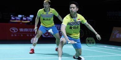 Hasil Hong Kong Open 2019 - Marcus/Kevin ke Babak Ke-2 dalam 35 Menit