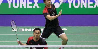 Hasil Hong Kong Open 2019 - Hendra/Ahsan Akui Keunggulan Ganda Korea Selatan