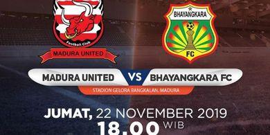 Link Live Streaming Madura United Vs Bhayangkara FC, Pertandingan Liga 1 2019 Pekan Ke-28