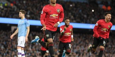 Man City Vs Man United - Rashford-Martial Gantian Cetak Gol, Setan Merah Unggul 2-0