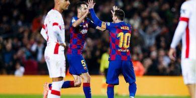 VIDEO - 3 Gol Lionel Messi ke Gawang Mallorca, dari Kelas Dunia Sampai Roket
