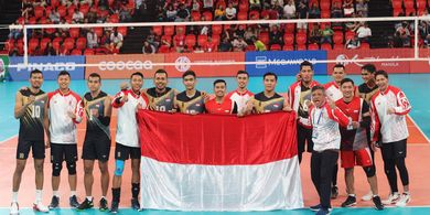 Hasil Final Voli SEA Games 2019 - Tim Voli Putra Indonesia Putus Puasa Medali Emas