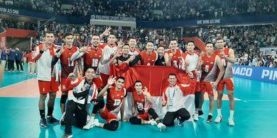 SEA Games 2019 - Tim Voli Putra Indonesia Rebut Emas dengan Rekor Sempurna