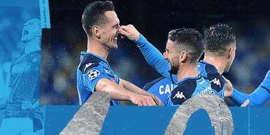 Hasil Liga Champions - Dua Penalti dan Hat-trick Milik Warnai Pesta Napoli atas Genk