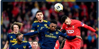 Babak I Standard Liege Vs Arsenal - The Gunners Ditahan Imbang Tanpa Gol di Paruh Pertama