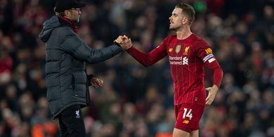 Jordan Henderson Dipastikan Absen di Laga Liverpool Kontra West Ham