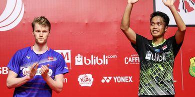 Indonesia Masters 2020 - Antonsen Bangga meski  Gagal Pertahankan Gelar karena Dikalahkan  Anthony