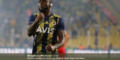 Hari Ini, Victor Moses Jalani Tes Medis Sebelum Gabung ke Inter Milan