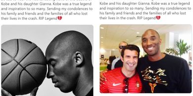 Polemik Ronaldo dan Figo soal Twit Duka untuk Kobe Bryant, Siapa Niru Siapa?