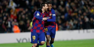 Hasil Babak I - Messi Langsung Hattrick, Eibar Remuk