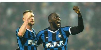 Hasil Babak I - Gol Aneh Lukaku Bawa Inter Unggul di Babak Pertama Liga Europa