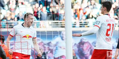 Hasil Lengkap Bundesliga - Menang Lagi Setelah 1 Bulan, RB Leipzig ke Puncak Klasemen