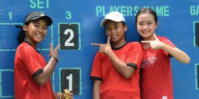 Tim Tenis Junior Putri Indonesia Kembali Petik Hasil Positif