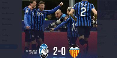 Hasil Babak I - Dikepung 4 Bek Valencia, Josip Ilicic Bawa Atalanta Unggul 2-0
