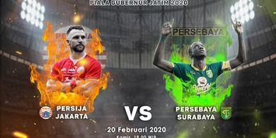 Susunan Pemain Persebaya vs Persija - Duel Ofensif di Final Piala Gubernur Jatim 2020