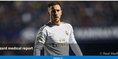 Real Madrid Konfirmasi Cedera Hazard, Bisa Absen El Clasico sampai Euro 2020