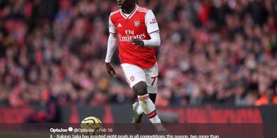 Tottenham Vs Arsenal - Alasan Bukayo Saka Dicadangkan di  Derbi London
