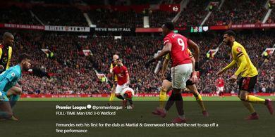 Pamer Gocekan Sebelum Cetak Gol, Fan MU: Martial Mirip Thierry Henry