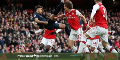 Babak I - Dentuman Empat Gol Warnai Laga Arsenal vs Everton