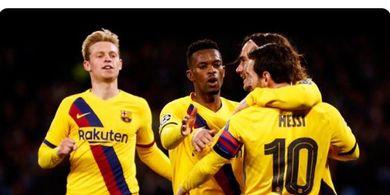 Hasil Liga Champions - Lionel Messi Gocek Pemain Napoli 7 Kali, Barcelona Tak Jadi Kalah