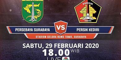 Link Live Streaming Persebaya Vs Persik, Laga Pembuka Liga 1 2020