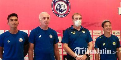 Arema FC Puas dengan Program Latihan Secara Online