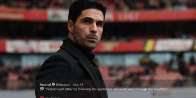 Mikel Arteta Sebut Beraksi Tanpa Penonton Sangat Membantu Pemain Arsenal