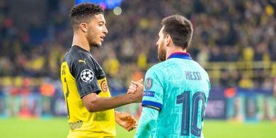 Di Usia Sama, Jadon Sancho Punya Statistik Jauh Lebih Hebat dari Messi-Ronaldo