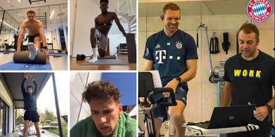 Bayern Muenchen Ikuti Wolfburg Gelar Latihan di Tengah Pandemi COVID-19.