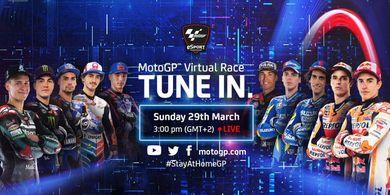 Link Live Streaming MotoGP Virtual 2020 - Marquez Antusias, Rossi Mundur
