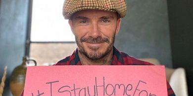 Ada yang Botak tapi Bukan Tuyul, David Beckham Kembali Cukur Rambut