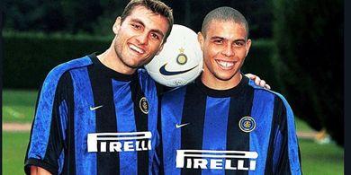 MOMEN JUARA, Hattrick Christian Vieri dalam Debut di Inter Milan