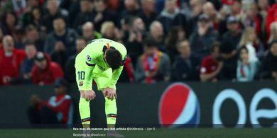 Rapor Buruk Lionel Messi bersama Barcelona di Liga Champions, 3 Kali Kena Comeback