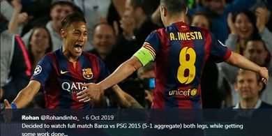 On This Day - Aksi Songong Neymar Bantu Barcelona Juara Copa del Rey